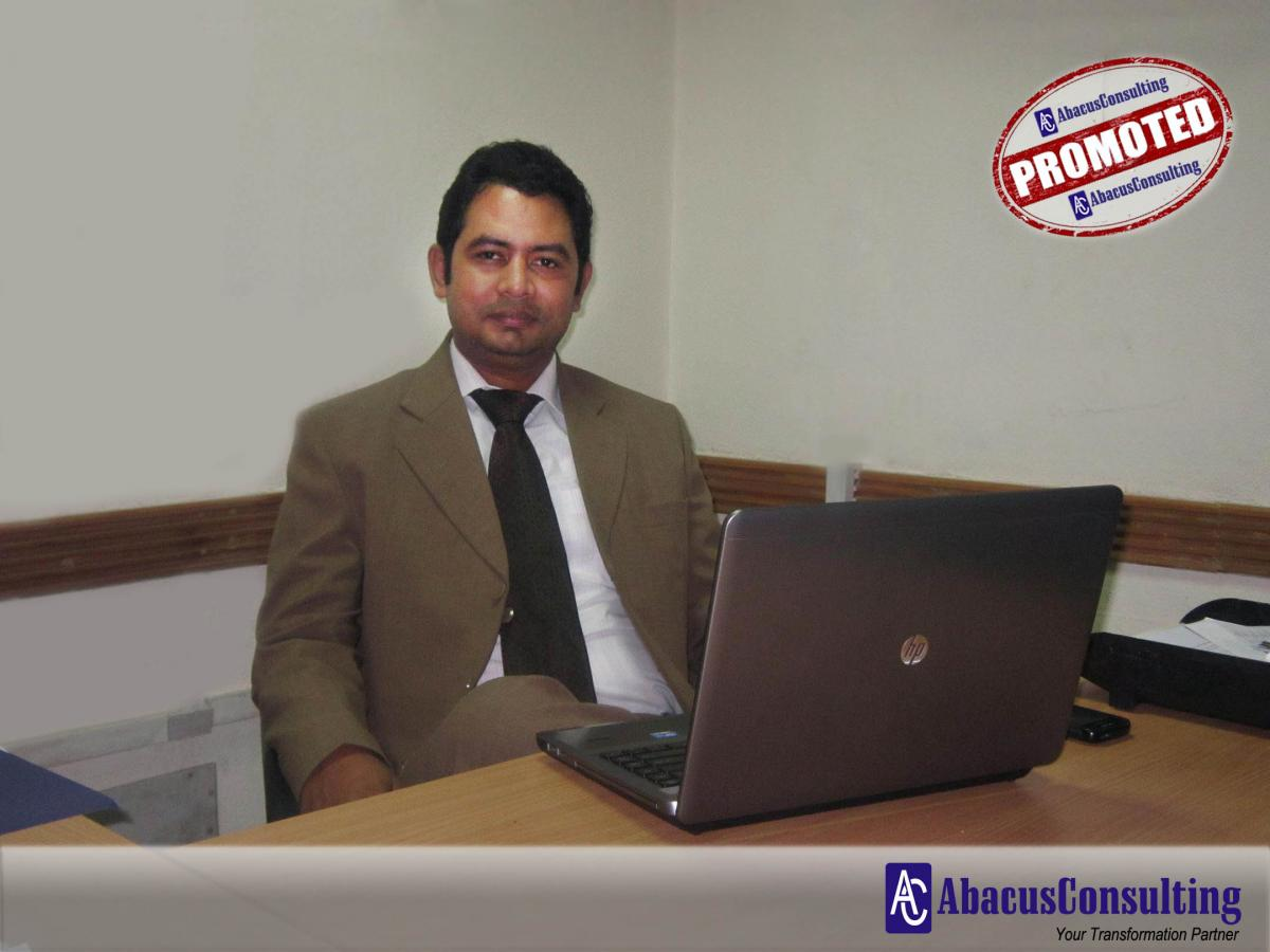 Mr. Bilal Ahmad - ITS-ADM (Assistant Vice President) - AbacusConsulting